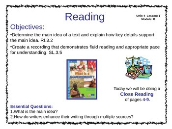 ReadyGen Unit 4 Module B - EDITABLE PowerPoint Lessons - Grade 3
