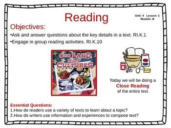 ReadyGen Unit 4 Module B - EDITABLE PowerPoint Lessons - K