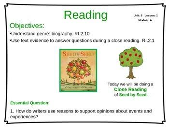 ReadyGen Unit 5 Module A - EDITABLE PowerPoint Lessons - Grade 2