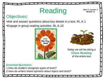 ReadyGen Unit 5 Module A - EDITABLE PowerPoint Lessons - Kindergarten