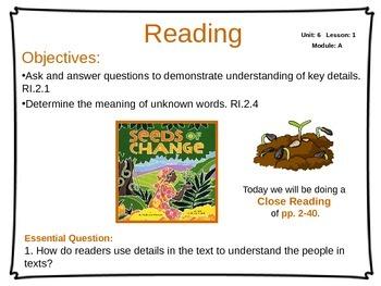 ReadyGen Unit 6 Module A - EDITABLE PowerPoint Lessons - Grade 2