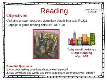 ReadyGen Unit 6 Module B - EDITABLE PowerPoint Lessons - Kindergarten