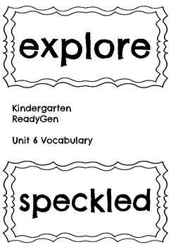 ReadyGen Unit 6 Vocabulary