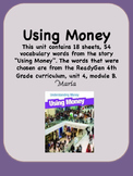 ReadyGen Using Money Vocabulary 4th Grade Unit 4 Module B