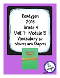 ReadyGen Vocabulary Grade 4 Movers and Shapers