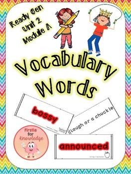 ReadyGen Vocabulary Unit 2 Module A