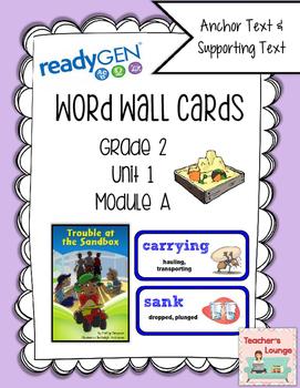 ReadyGen Vocabulary Word Wall Cards Unit 1A- 2016  Grade 2