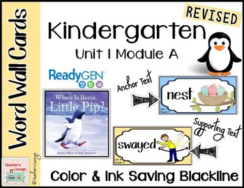 ReadyGen Vocabulary Word Wall Cards Unit 1A- 2016  Kindergarten