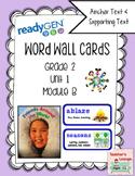ReadyGen Vocabulary Word Wall Cards Unit 1B- 2016  Grade 2