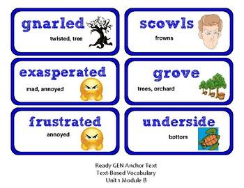 ReadyGen Vocabulary Word Wall Cards Unit 1B- 2016  Grade 3