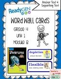 ReadyGen Vocabulary Word Wall Cards Unit 1B - 2016  Grade 4