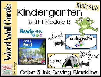 ReadyGen Vocabulary Word Wall Cards Unit 1B- 2016  Kindergarten