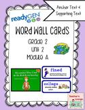 ReadyGen Vocabulary Word Wall Cards Unit 2A- 2016  Grade 2