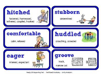 ReadyGen Vocabulary Word Wall Cards Unit 3A- 2016  Grade 3
