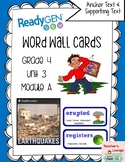 ReadyGen Vocabulary Word Wall Cards Unit 3A - 2016  Grade 4