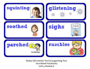 ReadyGen Vocabulary Word Wall Cards Unit 3A- 2016  Kindergarten