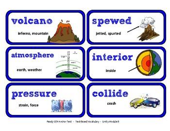 ReadyGen Vocabulary Word Wall Cards Unit 3B - 2016  Grade 4