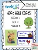 ReadyGen Vocabulary Word Wall Cards Unit 4A - 2016  Grade 1
