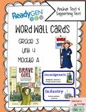 ReadyGen Vocabulary Word Wall Cards Unit 4A- 2016  Grade 3
