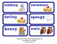 ReadyGen Vocabulary Word Wall Cards Unit 4A- 2016  Kindergarten
