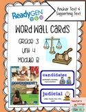 ReadyGen Vocabulary Word Wall Cards Unit 4B- 2016  Grade 3