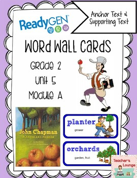 ReadyGen Vocabulary Word Wall Cards Unit 5A - 2016  Grade 2