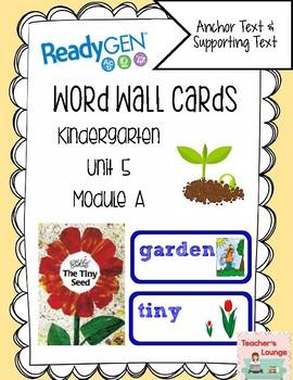 ReadyGen Vocabulary Word Wall Cards Unit 5A- 2016  Kindergarten