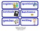 ReadyGen Vocabulary Word Wall Cards Unit 6A- 2016  Kindergarten