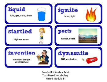 ReadyGen Vocabulary Word Wall Cards Unit 6B - 2016  Grade 2