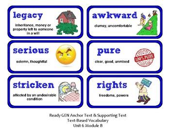 ReadyGen Vocabulary Word Wall Cards Unit 6B - 2016  Grade 2