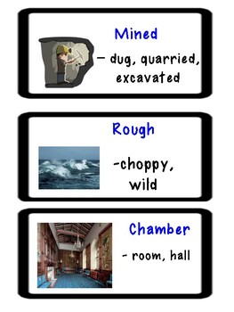 "ReadyGen ""Vocabulary to Unlock Text"" Vocab. Cards - UNIT 2 Why The Sea is Salty"