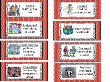 "ReadyGen ""Vocabulary to Unlock Text"" Vocabulary Cards - UNIT 1 GRADE 4"