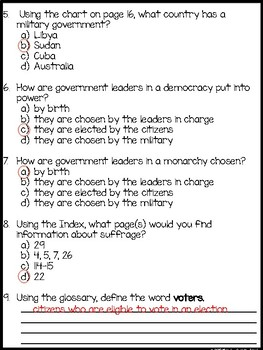 ReadyGen What Is a Government? Assessment