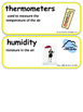 ReadyGen What Will the Weather Be? Vocabulary Kindergarten