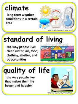 ReadyGen What is a Community? From A to Z Vocabulary 3rd Grade Unit 2 Module B