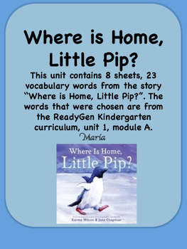 ReadyGen Where is Home, Little Pip? K-Unit 1 Module A