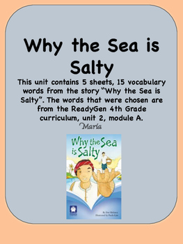 ReadyGen Why the Sea is Salty Vocabulary 4th Grade Unit 2