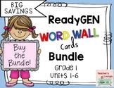 ReadyGen Word Wall Cards 2016 - BUNDLED - Grade 1