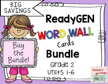 ReadyGen Word Wall Cards 2016 - BUNDLED - Grade 2