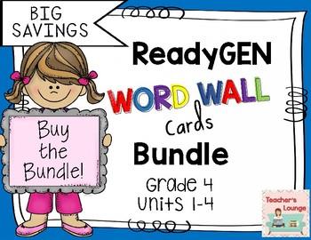 ReadyGen Word Wall Cards 2016 - BUNDLED - Grade 4