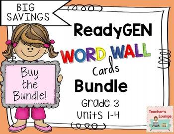 ReadyGen Word Wall Cards 2016 - BUNDLED - Grade 3