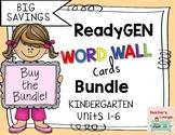 ReadyGen Word Wall Cards - BUNDLED - Grade Kindergarten