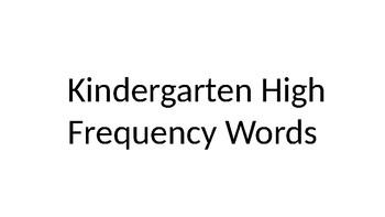 ReadyGen Word Wall Kindergarten/First Bundle- High Frequency Words 2016 EDITABLE