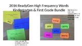 ReadyGen Word Wall Kindergarten/First Bundle- High Frequen
