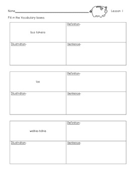 ReadyGen Worksheets 2nd Gr. Unit 2A  Lessons 1-13 Alexander/Chair for My Mother