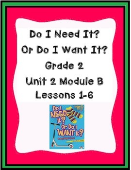 ReadyGen Worksheets Gr. 2 Unit 2B  Lessons 1-6 Need It? Want It?