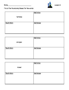 ReadyGen Worksheets Gr. 2 4A Lessons 1-6 The Earth Dragon Awakes