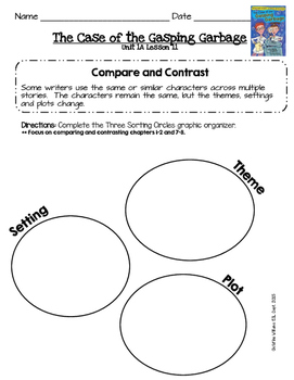2014 Readygen 3rd Grade Unit 1 Module A Lesson 11 Case of the Gasping Garbage