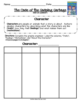 2014 Readygen 3rd Grade Unit 1 Module A Lesson 4 The Case of the Gasping Garbage