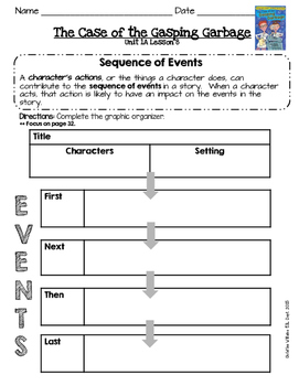 2014 Readygen 3rd Grade Unit 1 Module A Lesson 8 The Case of the Gasping Garbage